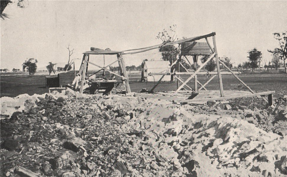 Associate Product Alluvial Mining - Horse Whim for Shaft Sinking. Victoria, Australia. 1909