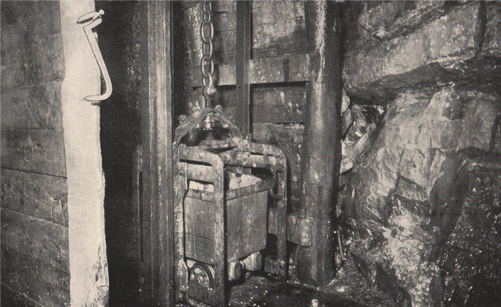 Balance Shaft, Chalk's No. 1 Mine, Maryborough. Victoria, Australia. Mining 1909