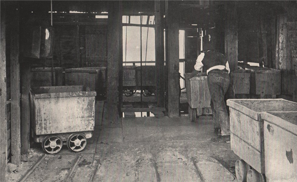 Associate Product Landing Brace, Chalk's No. 1 Mine, Maryborough. Victoria, Australia. Mining 1909