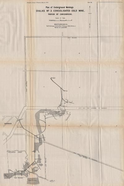 Associate Product Chalks No. 3 Consolidated Gold Mine, Carisbrook. Victoria, Australia 1909 map