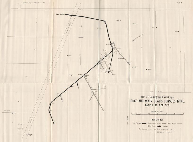 Associate Product Duke and Main Leads Consols Mine, Bet-Bet. Victoria, Australia. Mining 1909 map