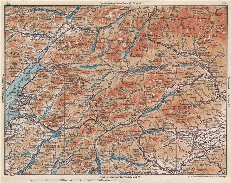 Associate Product SCOTLAND. Argyll Perth Loch Linnhe. Vintage map plan 1959 old vintage