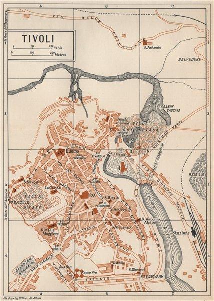 Associate Product TIVOLI vintage town city map plan. Pianta mappa città. Lazio Italy 1956