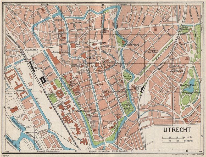 Associate Product UTRECHT. Vintage town city map plan. Netherlands 1961 old vintage chart