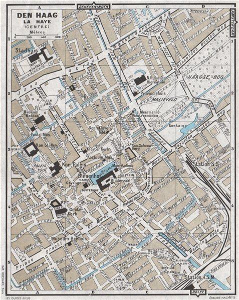 Associate Product DEN HAAG LA HAYE THE HAGUE vintage town city centre stadsplan 1964 old map