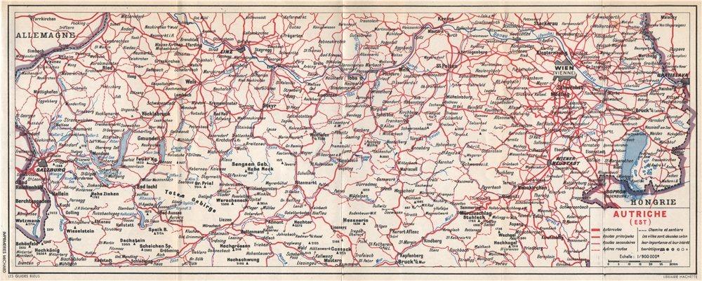 Associate Product Eastern Austria. Autriche (est). Österreich 1954 old vintage map plan chart