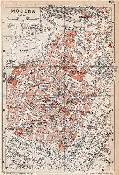 Associate Product MODENA vintage town city pianta della città. Italy 1958 old vintage map chart