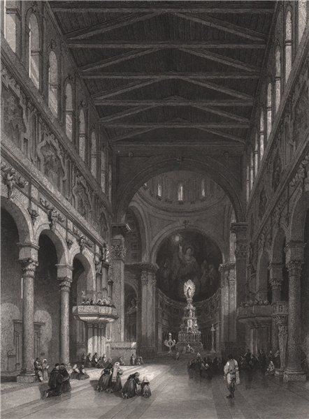 Associate Product The cathedral at Messina, Italy 1840 old antique vintage print picture