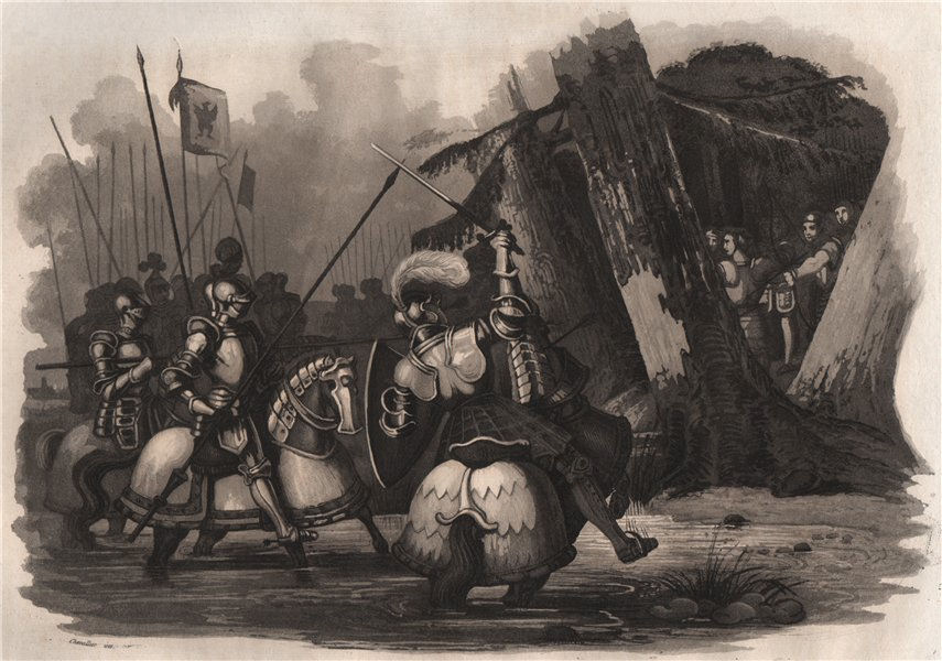 Associate Product Death of Duke Henry in Prussia (1167). Prussia 1836 old antique print picture