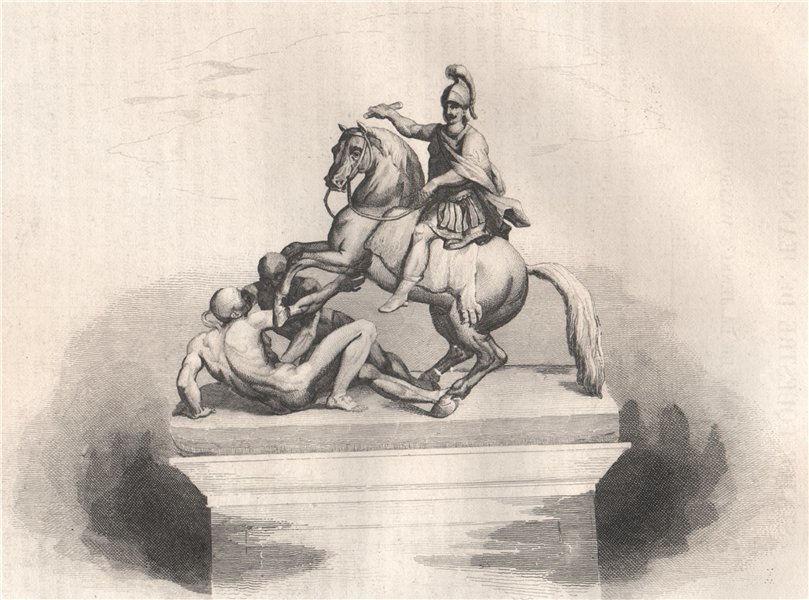 Associate Product Equestrian statue of John Sobieski on Lazienki bridge, Warsaw. Poland 1836
