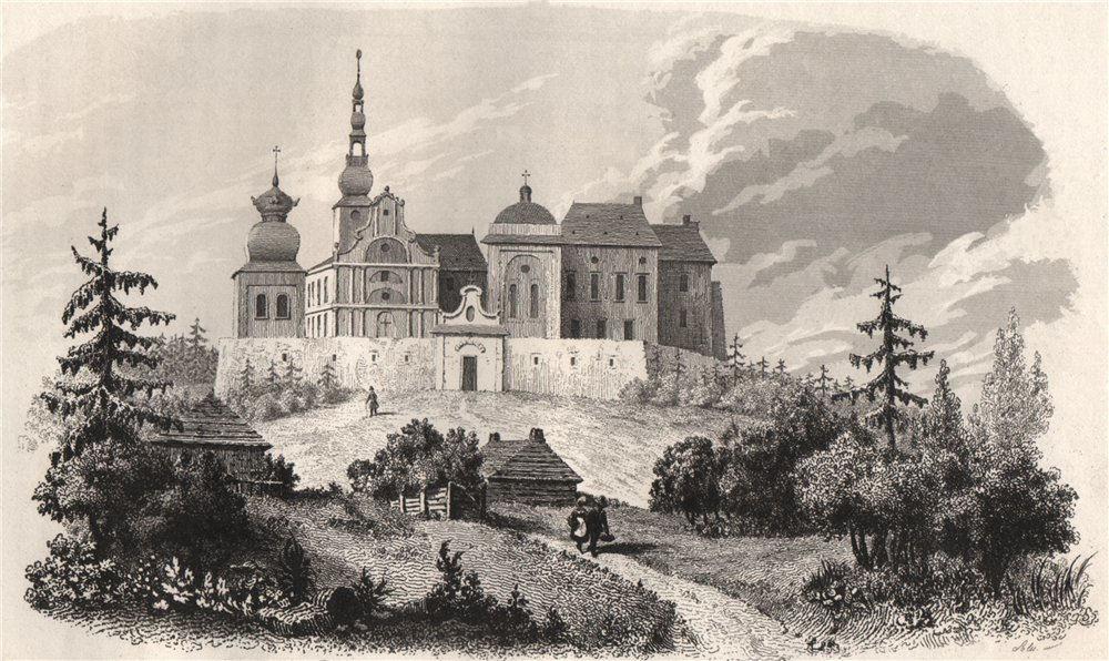 Associate Product Church of the Holy Cross on the Bald Mountain (Lysa Gora). Poland 1836 print