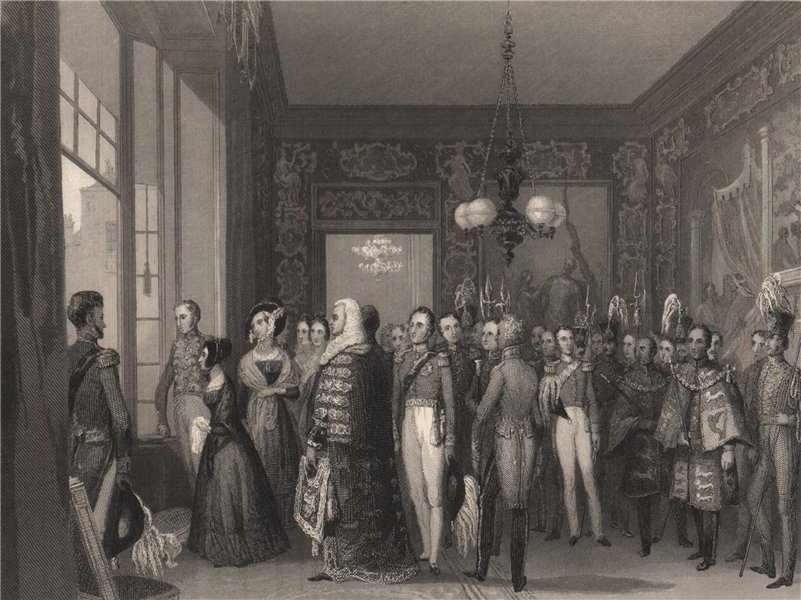 Associate Product Audience chamber, St James's Palace. Proclamation of HM the Queen. LONDON 1841