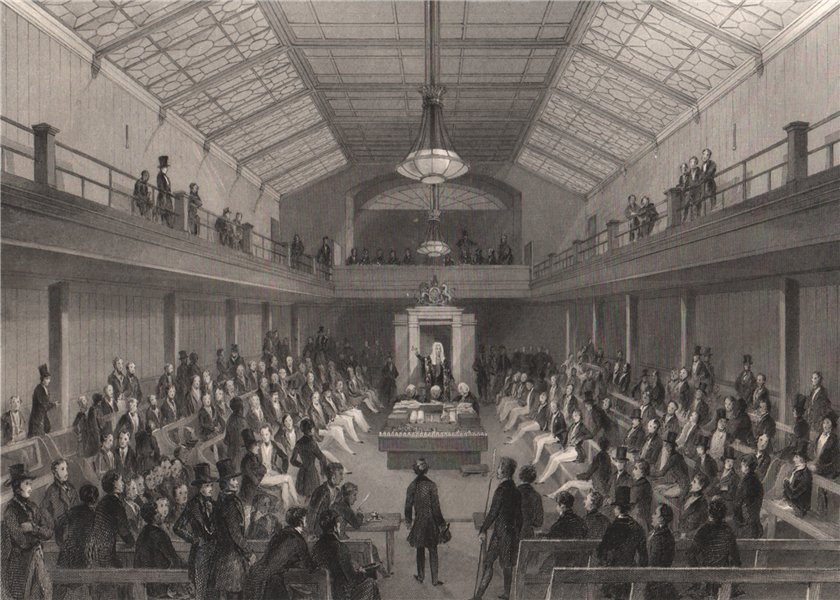 Associate Product House of Commons. The speaker repremanding a person at the Bar. LONDON 1841