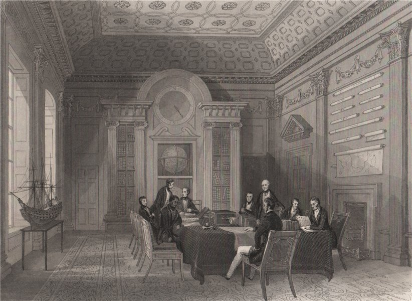 Associate Product The Admiralty - board room meeting of the Lords of the Admiralty. LONDON 1841