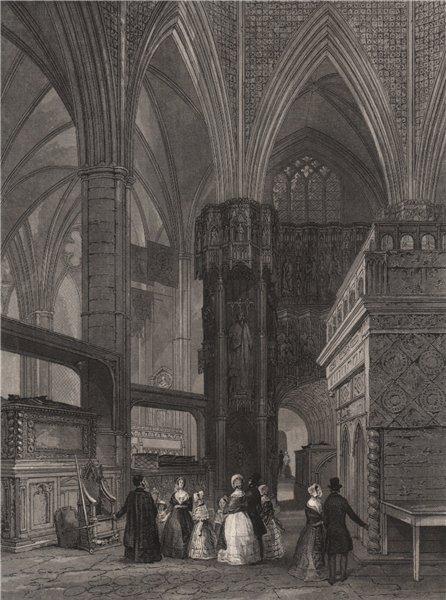 Associate Product Westminster Abbey; Edward the Confessor's Chapel. Coronation chair. LONDON 1841