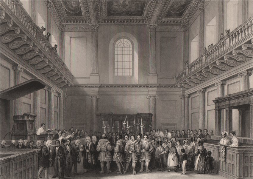 Associate Product Banqueting House, Whitehall. Distribution of Her Majesty's maundy. LONDON 1841