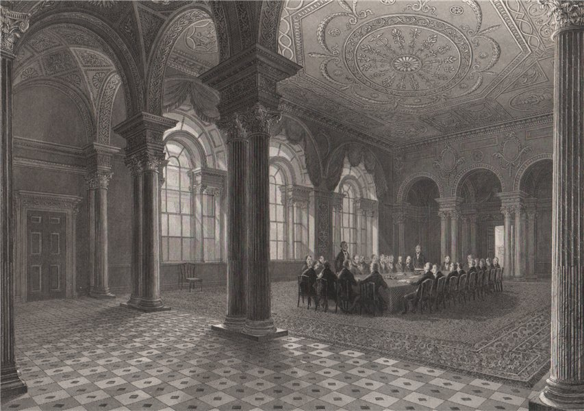 The Bank Parlour. Court of the Governor and Company. LONDON INTERIORS 1841