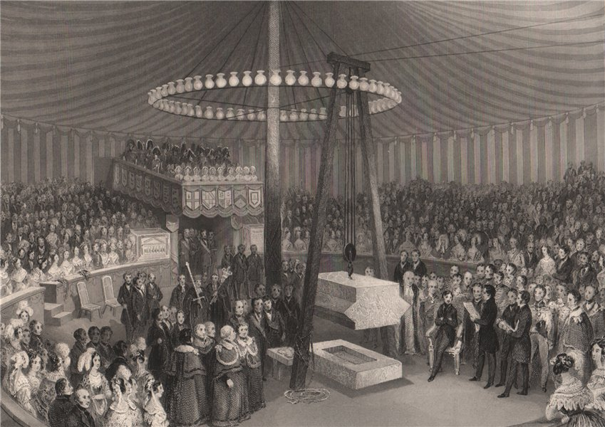 Associate Product Prince Albert laying the keystone of the new Royal Exchange, 1842. LONDON 1841
