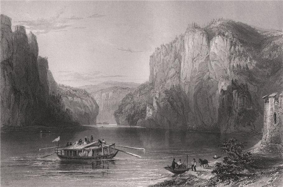 Associate Product Scene near the Weltenberg, Bavaria. Danube Donau. BARTLETT 1840 old print