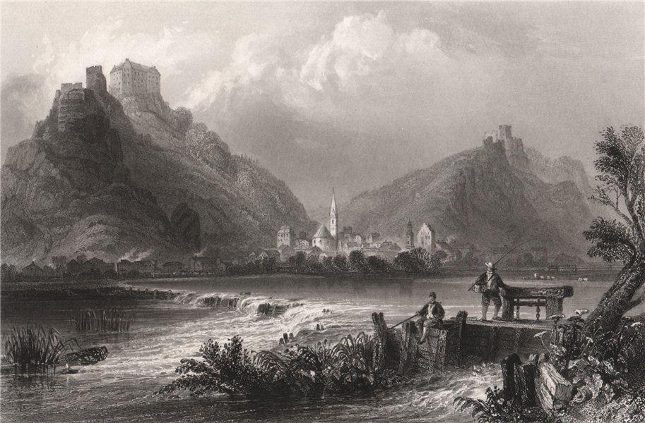 Associate Product Riedenburg & Falkenhof Schloss Rosenburg, Altmühltal, Bavaria. Danube Donau 1840
