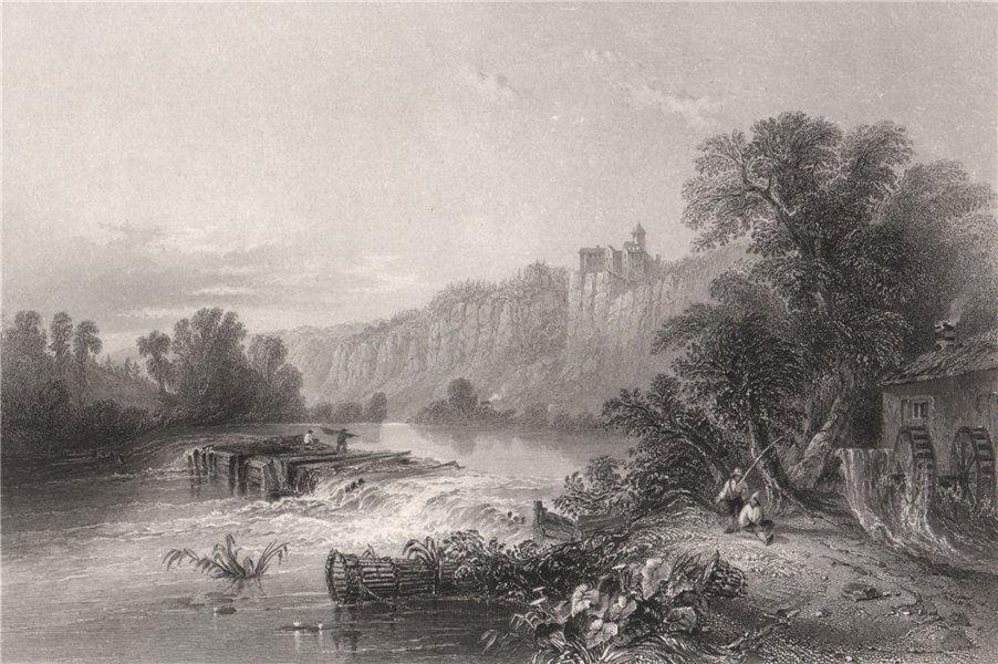 Associate Product Burg Prunn Castle, Altmühltal, Bavaria. Danube Donau. BARTLETT 1840 old print