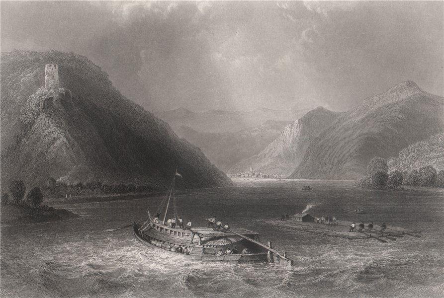 Associate Product Sarmingstein, Hirschenau & Ruine Freyenstein, Austria. Danube Donau 1840 print