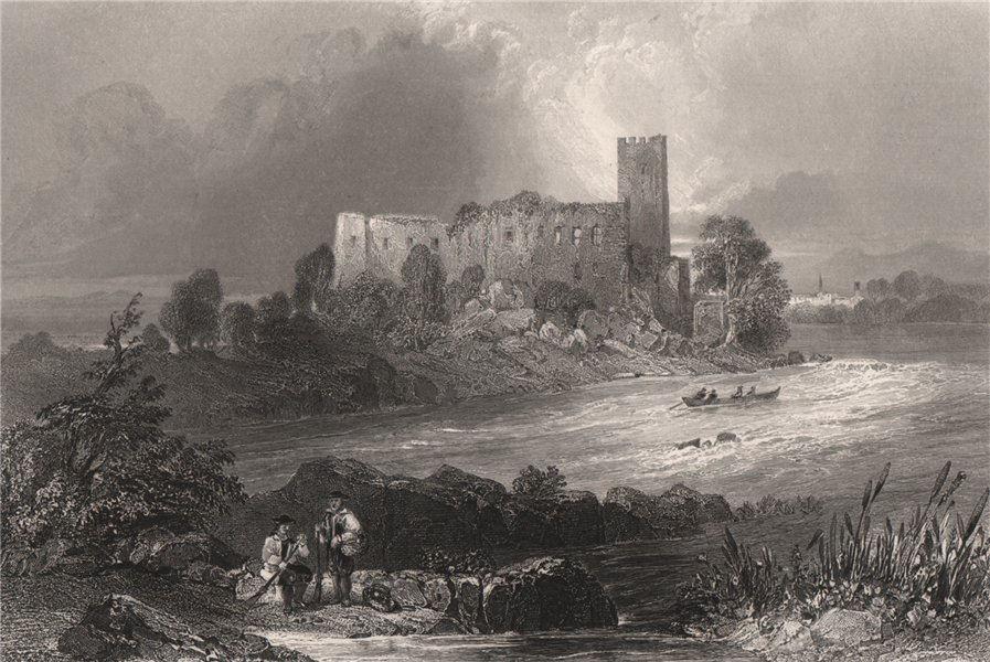 Associate Product Burgruine Spielberg, Langenstein, Upper Austria. Danube Donau. BARTLETT 1840