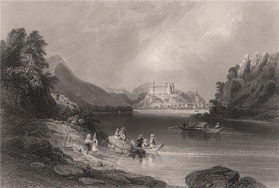 Grein, on the Danube, Austria. Donau. BARTLETT 1840 old antique print picture