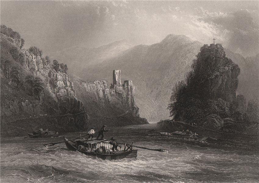 Associate Product The 'Strudel' (whirlpool), Grein, Werfenstein, Austria. Danube Donau 1840