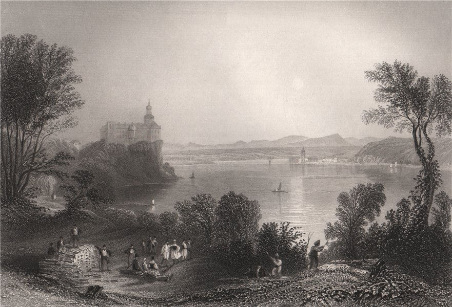 Associate Product Castle of Persenbeug, Austria. Danube Donau. BARTLETT 1840 old antique print