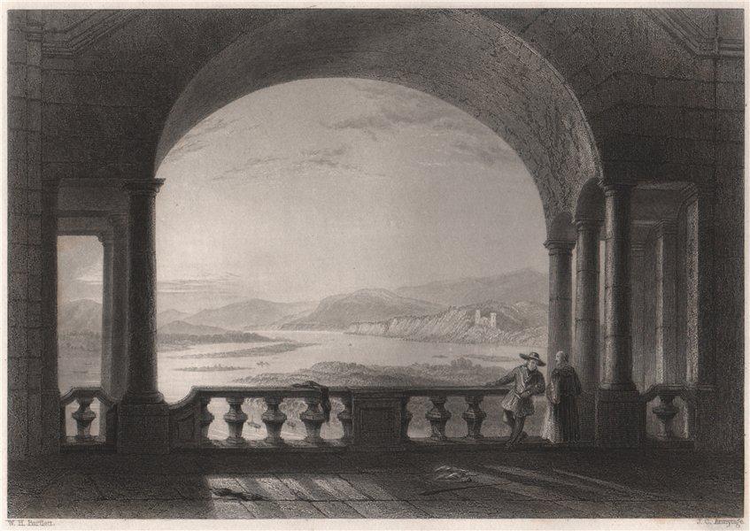 Associate Product Castle Weiteneck (Schloss Schönbühel), Austria. Danube Donau. BARTLETT 1840