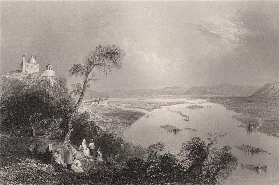 Associate Product View towards Klosterneuburg from the Leopoldsberg. Danube Donau. BARTLETT 1840