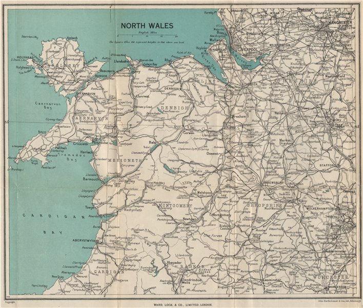 Associate Product NORTH WALES. Rhyl Flint. WARD LOCK 1948 old vintage map plan chart
