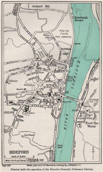 Associate Product BIDEFORD vintage town/city plan. Devon. WARD LOCK 1946 old vintage map chart