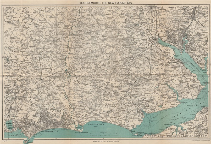 Associate Product THE NEW FOREST & environs. Bournemouth Southampton Ringwood. WARD LOCK 1946 map
