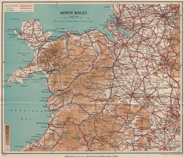 Associate Product NORTH WALES. Rhyl Flint. WARD LOCK 1937 old vintage map plan chart
