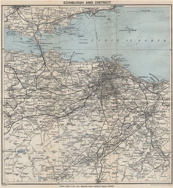 Associate Product EDINBURGH environs. Portobello Leith Dunfermline Dalkeith. WARD LOCK 1934 map