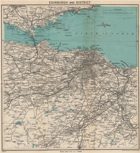 Associate Product EDINBURGH environs. Portobello Leith Dunfermline Dalkeith. WARD LOCK 1947 map
