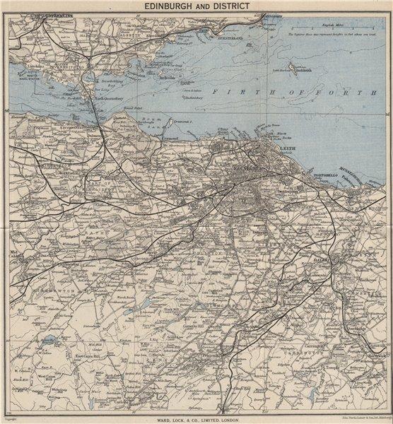 Associate Product EDINBURGH environs. Portobello Leith Dunfermline Dalkeith. WARD LOCK 1949 map