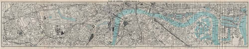 Associate Product CENTRAL LONDON-SECTION 3 vintage town/city plan. London. WARD LOCK 1925 map