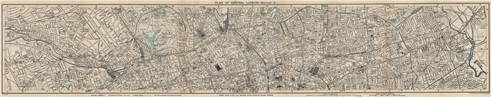CENTRAL LONDON-SECTION 2 vintage town/city plan. London. WARD LOCK 1932 map