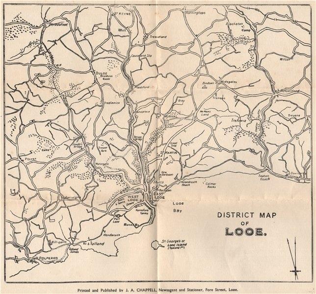 Associate Product DISTRICT MAP OF LOOE. West Looe East Looe Polperro. Cornwall. WARD LOCK 1935