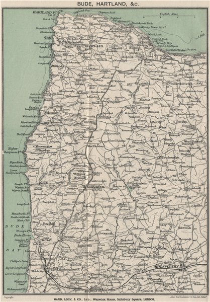Associate Product HARTLAND. Bude Clovelly Holsworthy. North Devon. WARD LOCK 1924 old map