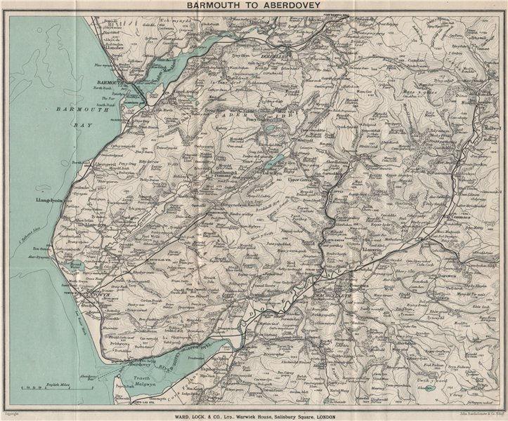 Associate Product SNOWDONIA SOUTH. Cader Idris. Barmouth Dolgellau Aberdovey. WARD LOCK 1913 map
