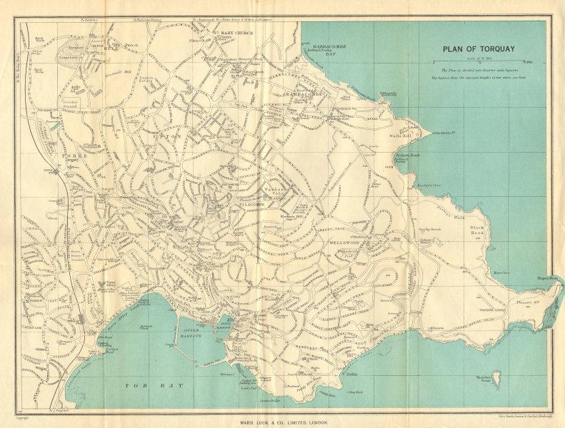Associate Product TORQUAY vintage town/city plan. Devon. WARD LOCK 1948 old vintage map chart