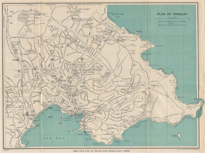 Associate Product TORQUAY vintage city/town plan. Devon. WARD LOCK 1932 old vintage map chart