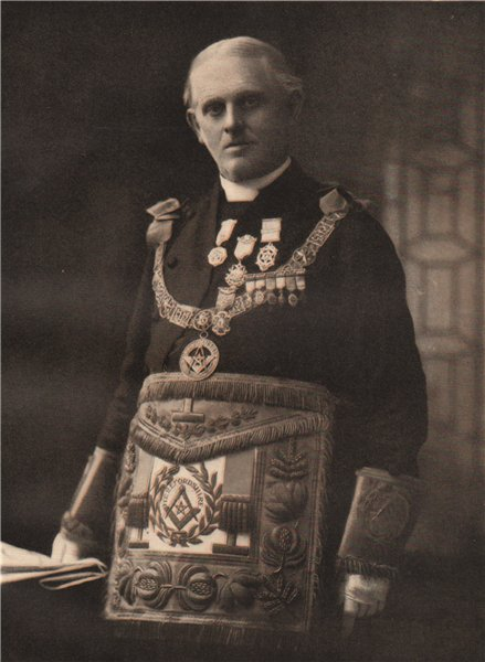 Associate Product FREEMASONRY. J. Wentworth Leigh, Provincial Grand Master of Herefordshire 1882