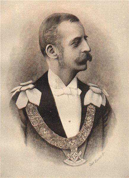 Associate Product FREEMASONRY. The Duke of Abercorn, Grand Master of Ireland 1882 old print