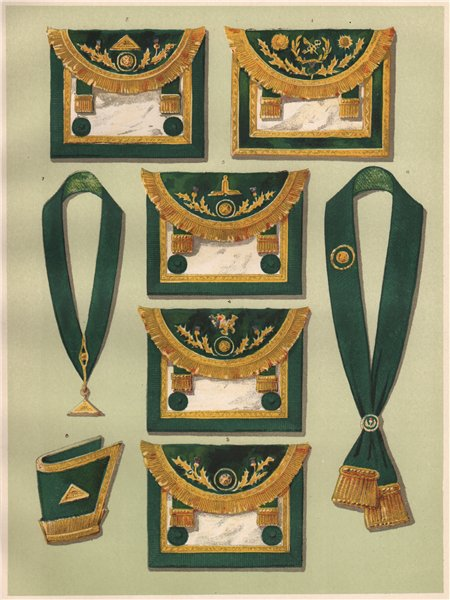 FREEMASONRY. Clothing of Grand Officers of The Grand Lodge of Scotland 1882