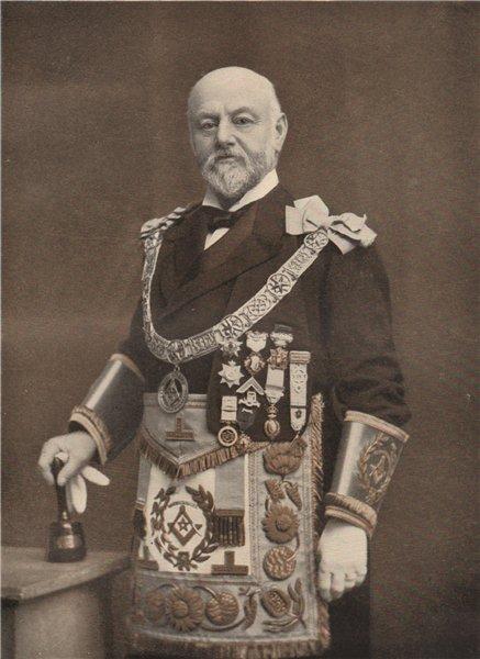FREEMASONRY. Marquess of Hertford, Provincial Grand Master of Warwickshire 1882
